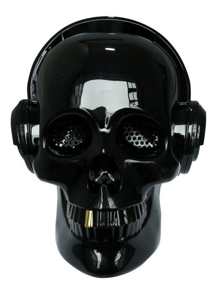 Altavoz inalámbrico con Bluetooth Calavera negra