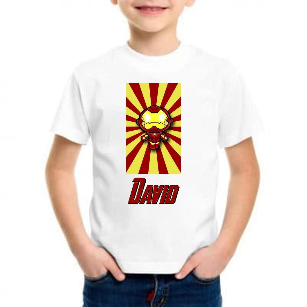 Camiseta niño mini iron man
