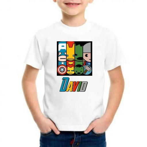 Camiseta niño mini avengers barata