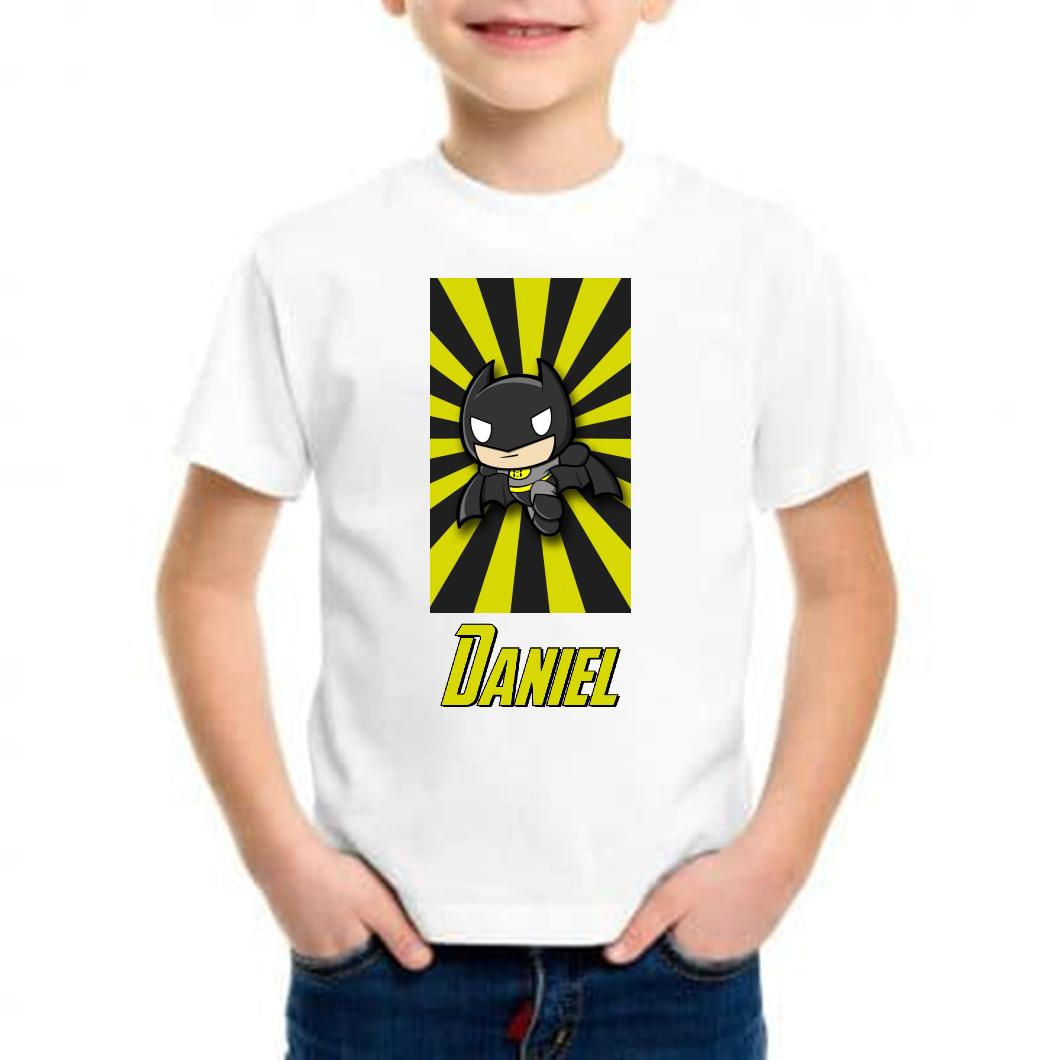 camiseta personalizada niño batman
