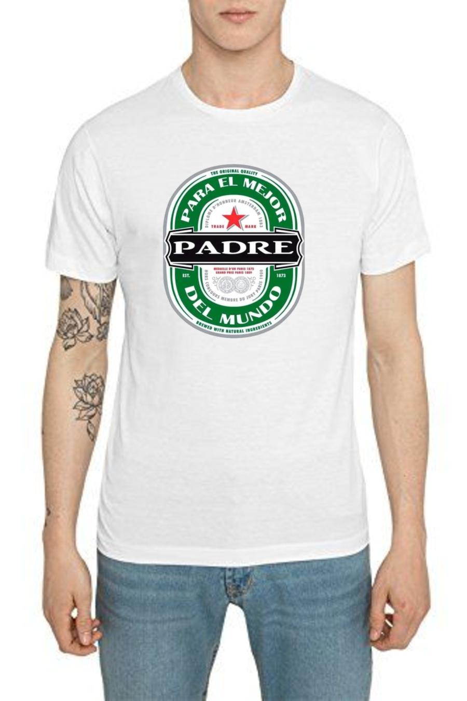 camiseta día del padre Heineken  blanca