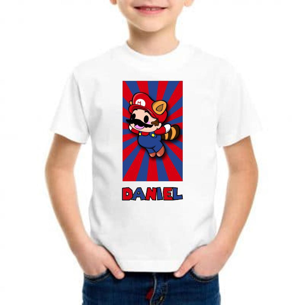 Camiseta niño mini mario bros barata