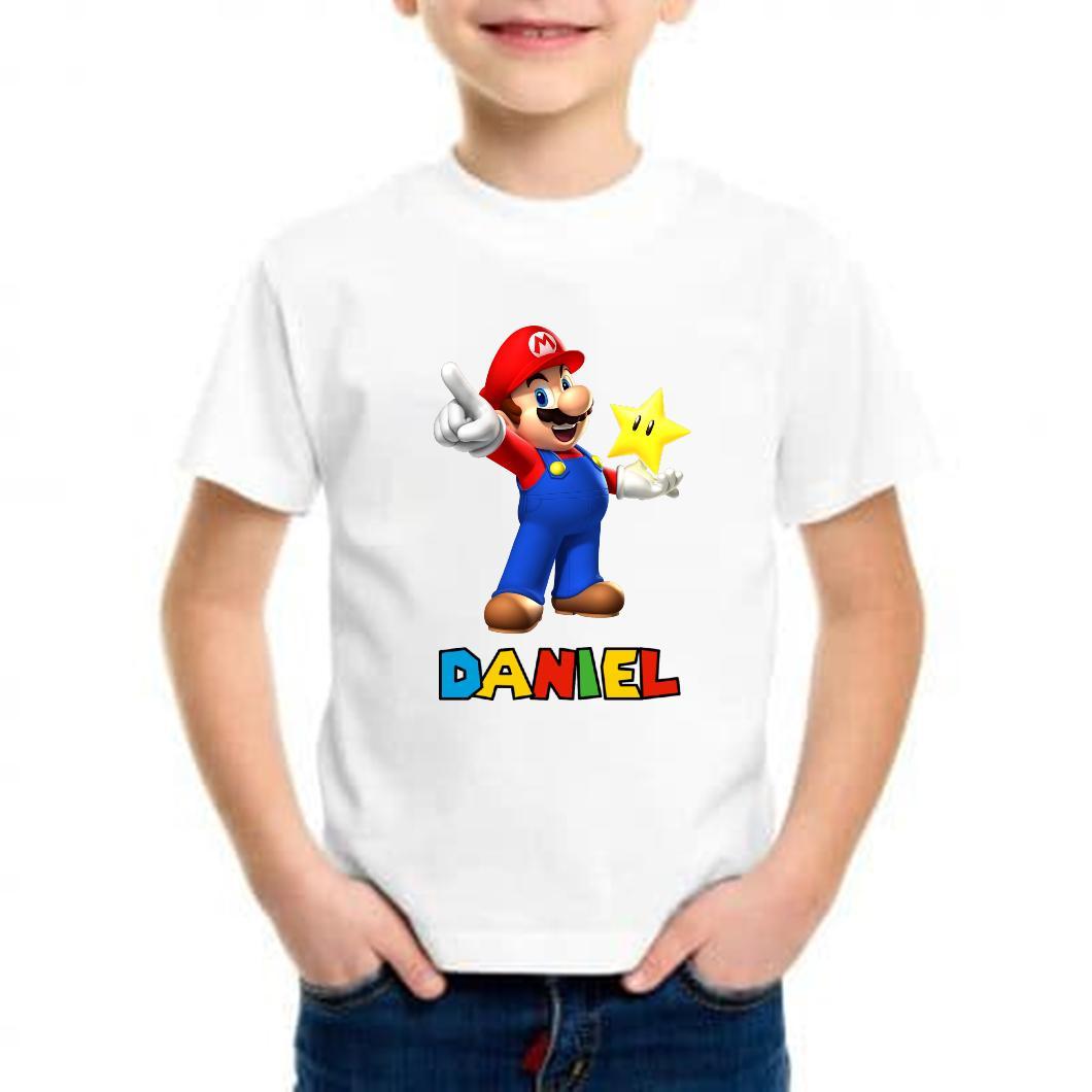 Camiseta niño mario bros barata