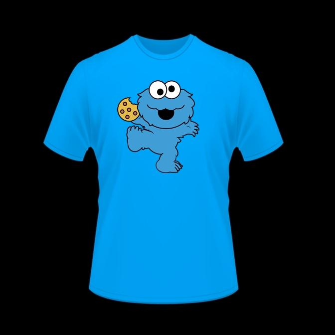 Camiseta hombre  Monstruo de las galletas