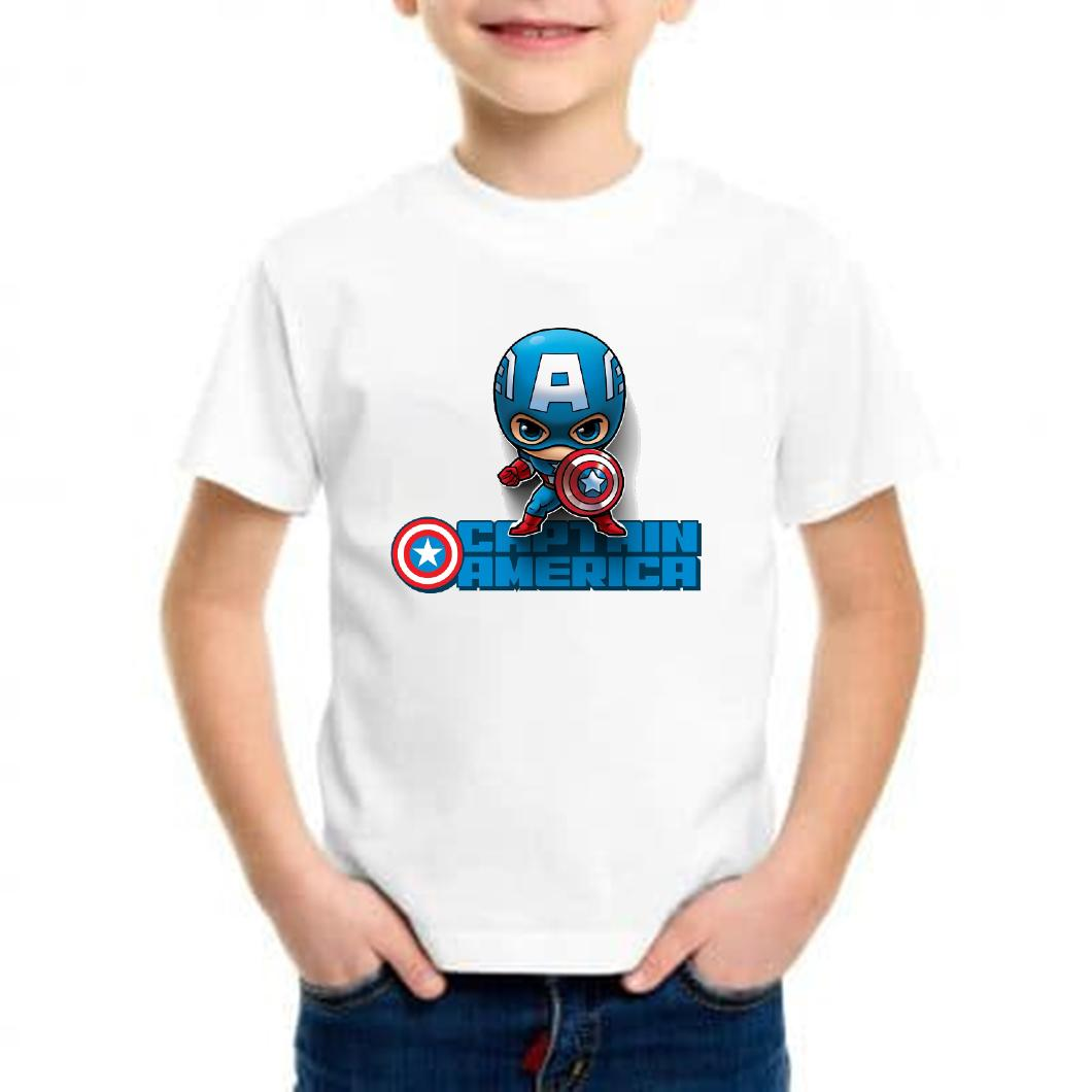 Camiseta niño mini capitán américa barata