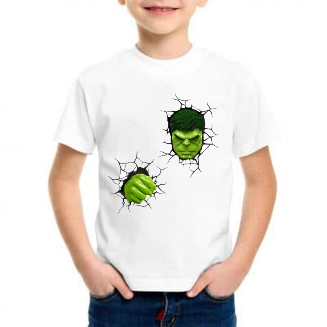 camiseta niño hulk barata