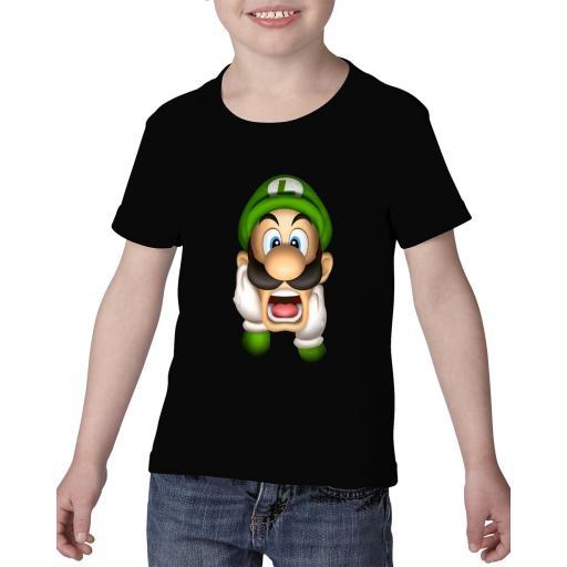 Camiseta niño luigi bros barata