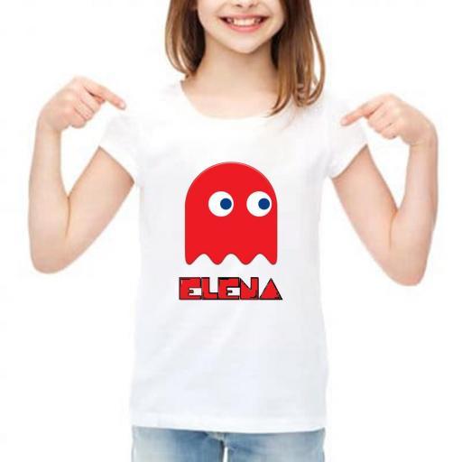 camiseta pacman niño barata