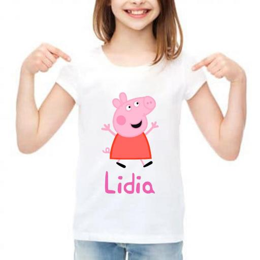 Camiseta niña peppa pig personalizada