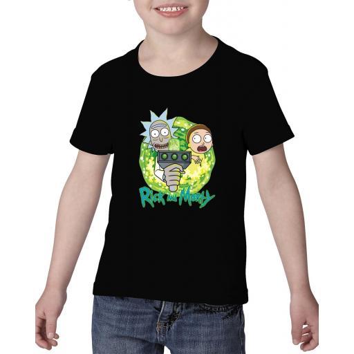 Camiseta niño rick y morty