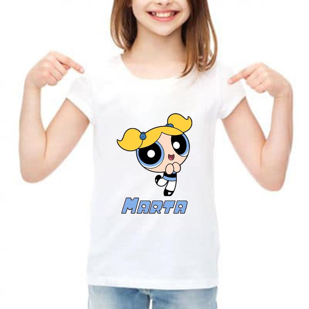 Camiseta niña personalizada super nenas