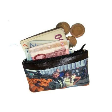 Monedero billetero personalizado con foto.