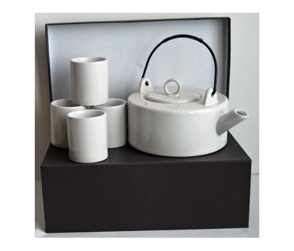 set mei ling, cerámica tetera + 4 vasos