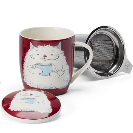 Taza barny, porcelana 0,32 l. filtro y tapa