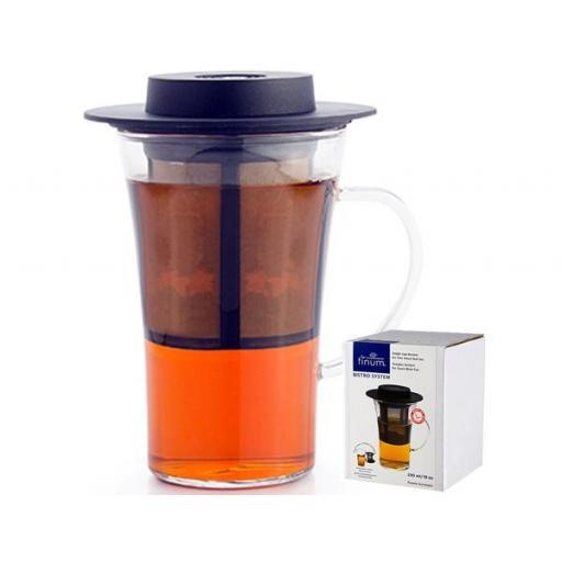 Taza bistro finum , cristal 0,28 l. filtro y tapa