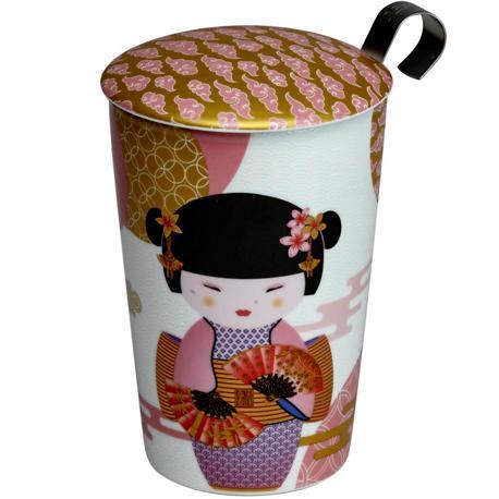 Taza geisha, porcelana 0,35 l. teaeve filtro y tapa
