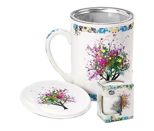 Taza griffin, porcelana 0,25 l. filtro y tapa