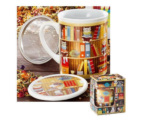 Taza harold, porcelana 0,25 l. filtro y tapa