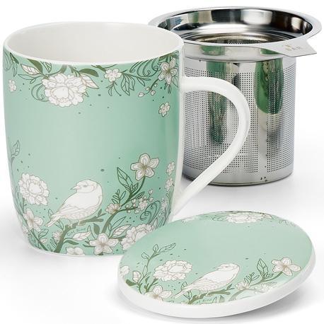 Taza kyla, porcelana 0,32 l. filtro y tapa