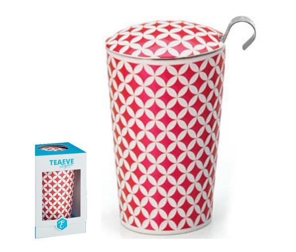 Taza may lin, porcelana 0,35 l. teaeve filtro y tapa