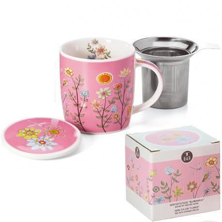 Taza meadow, porcelana 0,32 l. filtro y tapa