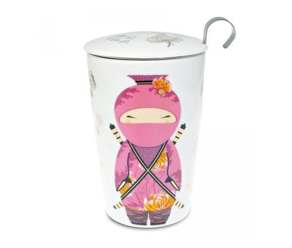 Taza ninja, porcelana 0,35 l. teaeve filtro y tapa
