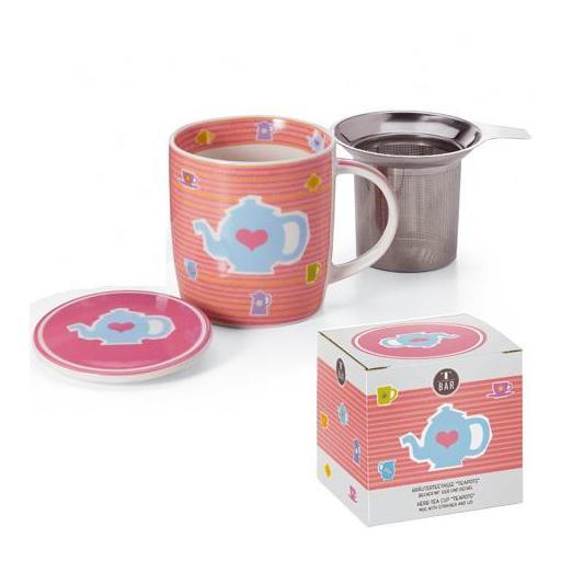 Taza teapots, porcelana 0,32 l. filtro y tapa