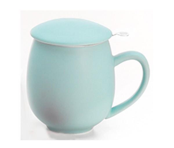 Taza zaara azul, porcelana 0,35 l. filtro y tapa