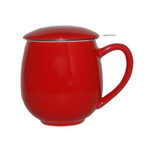 Taza zaara roja, porcelana 0,35 l. filtro