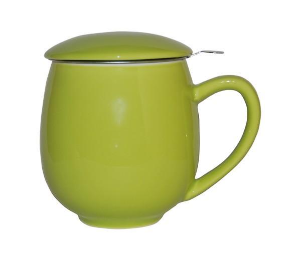 Taza zaara verde, porcelana 0,35 l. filtro y tapa
