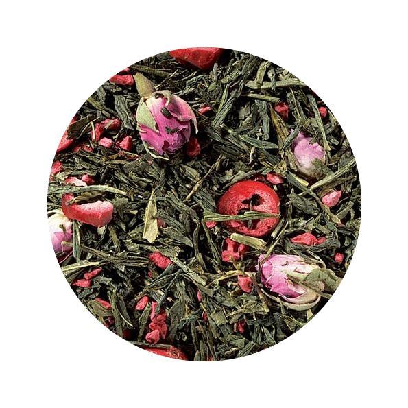 Té verde arandanos rosas