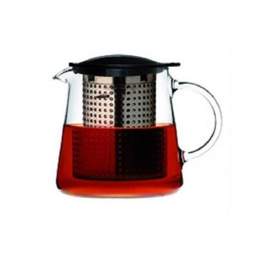 Tetera finum 0,8 l tea control, cristal con filtro