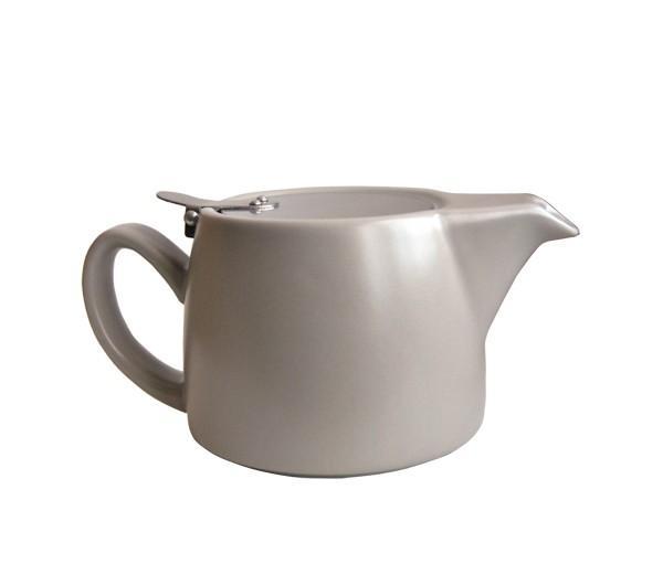 Tetera moderna gris claro, cerámica 0,4 l.