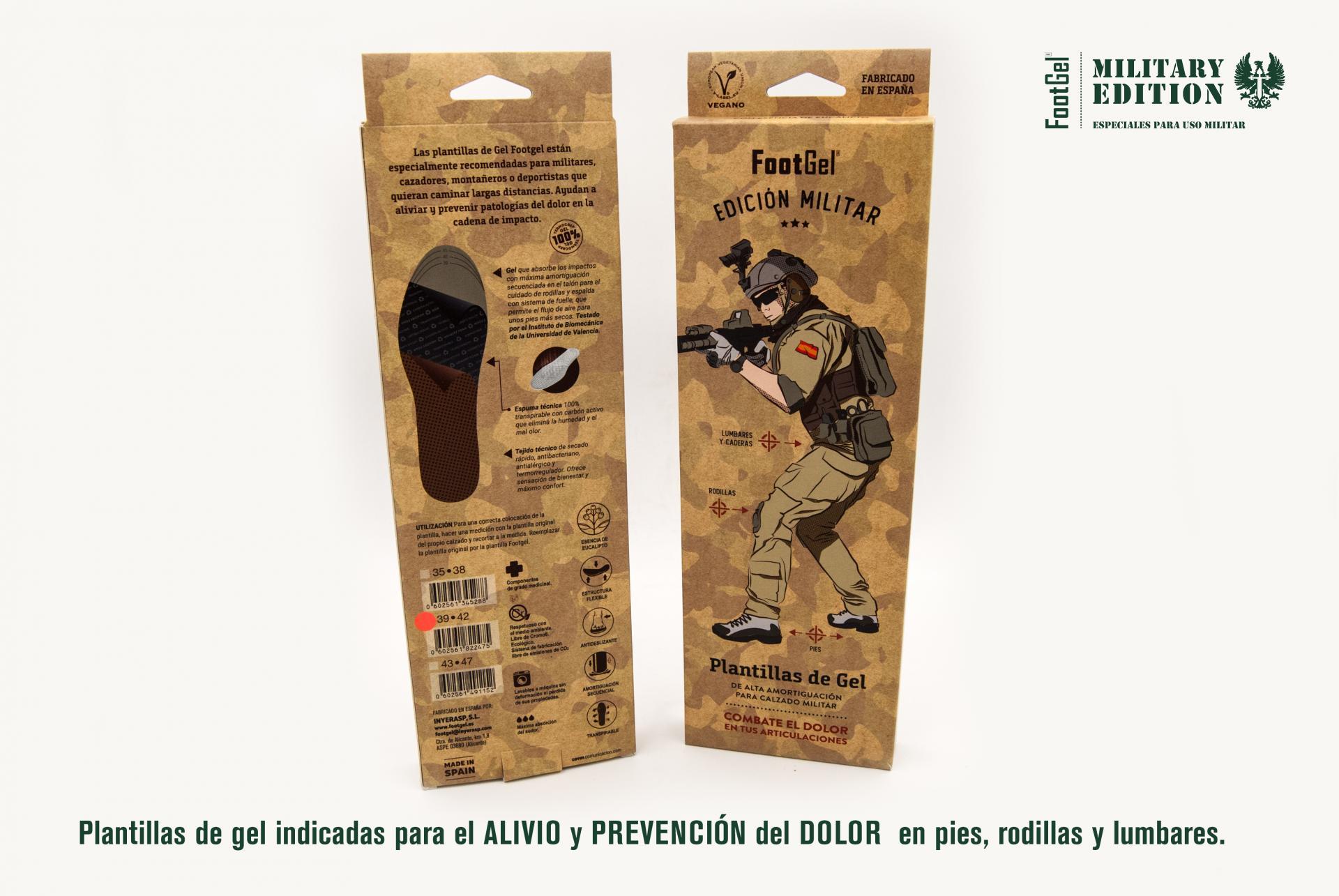 PLANTILLAS MILITARES DE GEL FOOTGEL