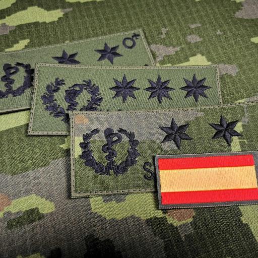 Galleta militar bordada de Sanidad