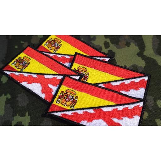 PARCHES BANDERA ESPAÑA Y CRUZ BORGOÑA
