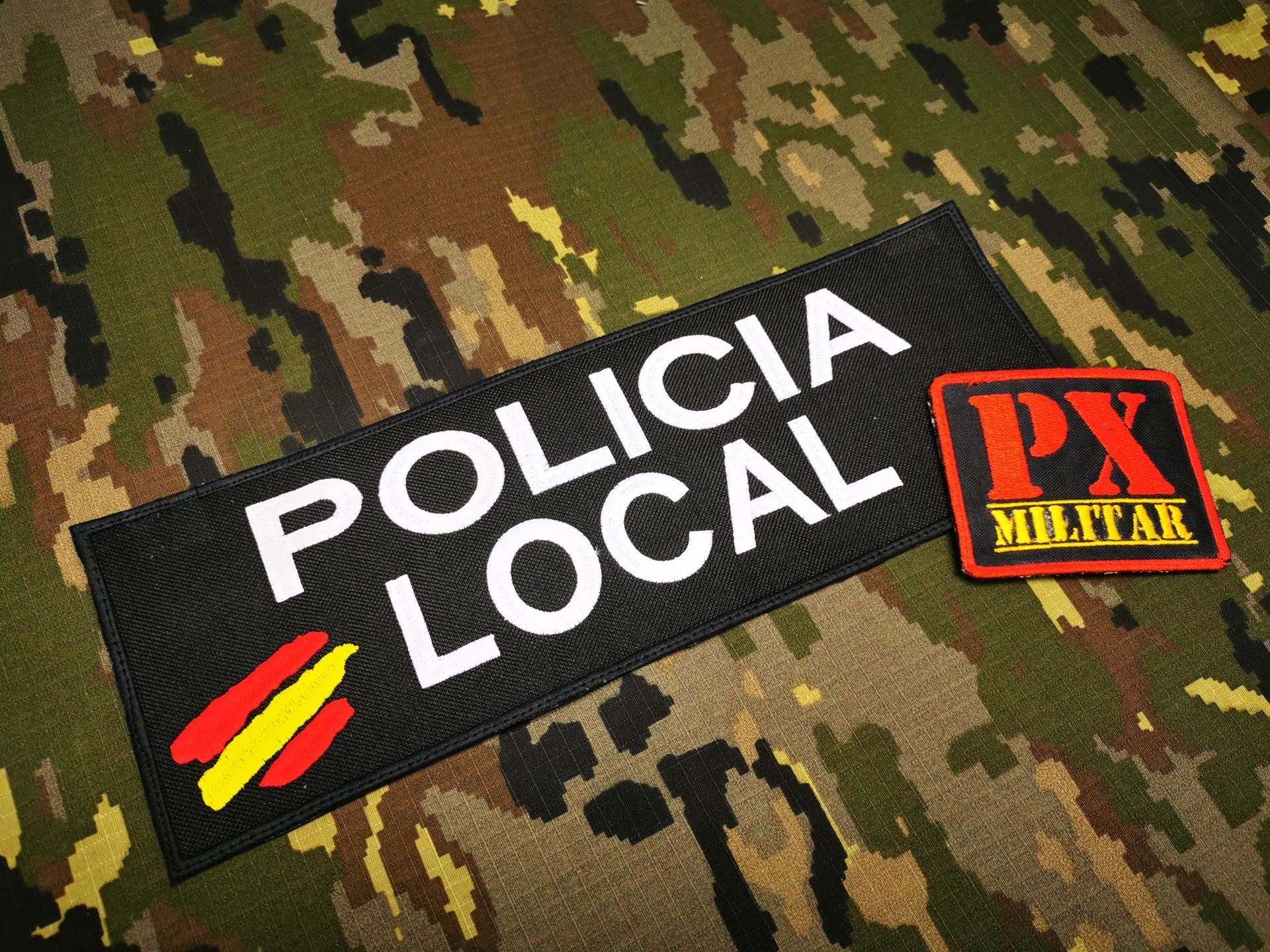 PARCHE POLICÍA LOCAL RECTANGULAR