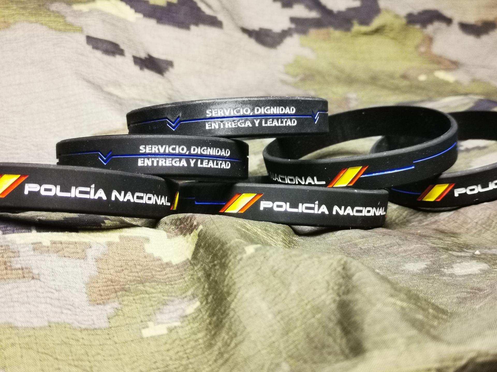 PULSERA GOMA POLICIA NACIONAL BLUE LINE