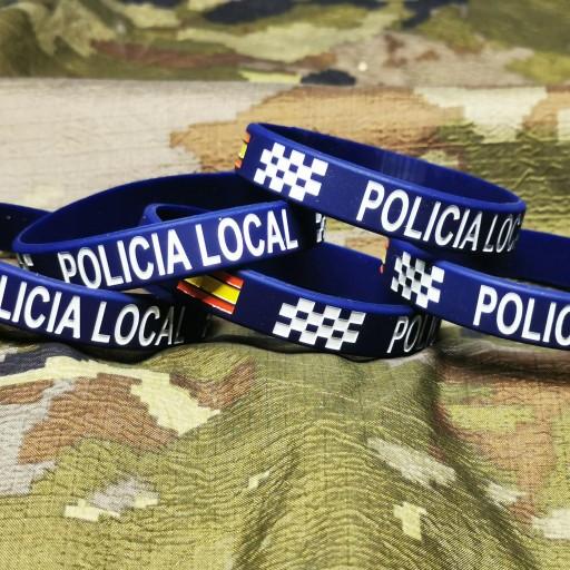 PULSERA GOMA POLICIA LOCAL
