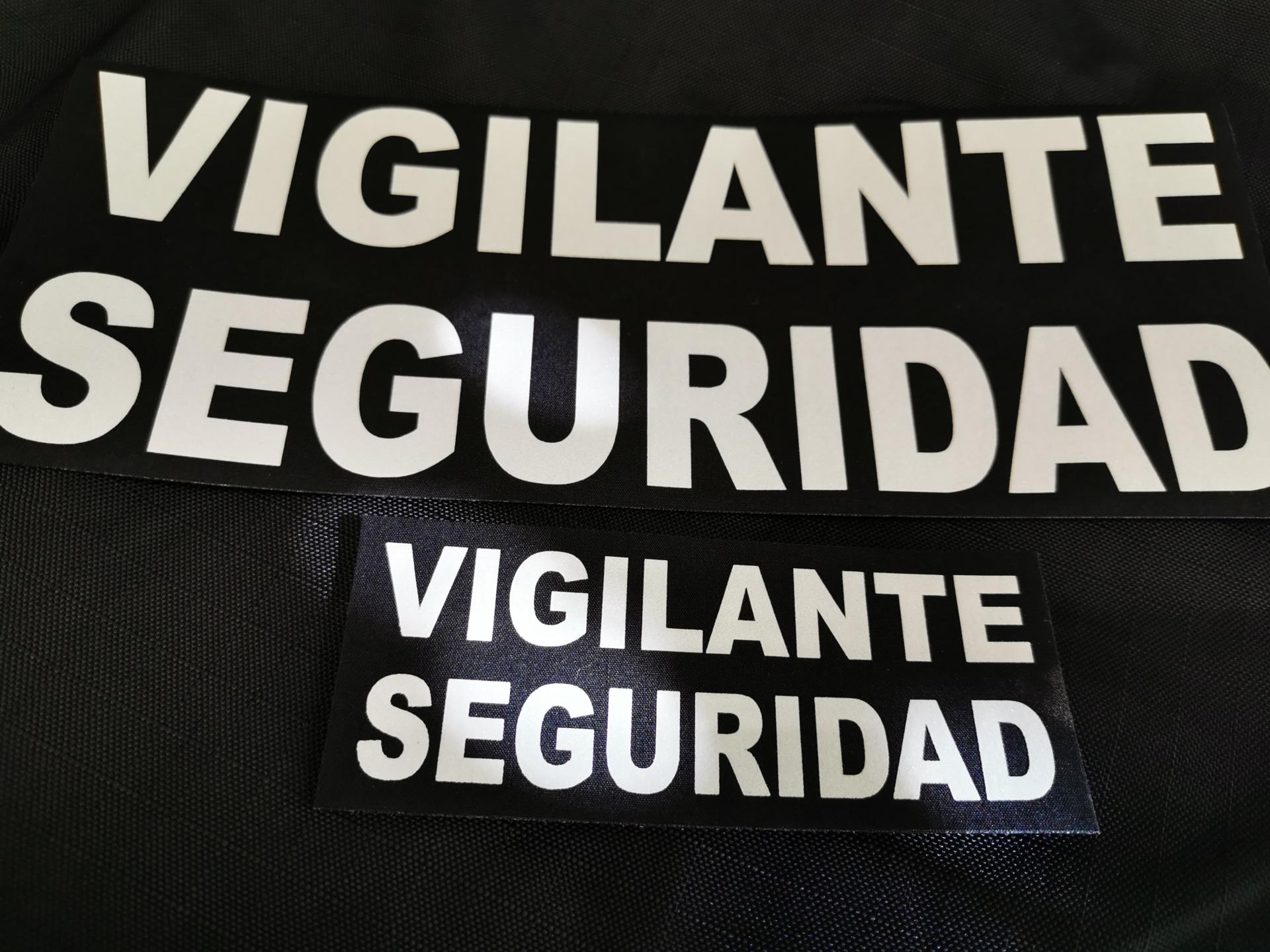 PARCHE VIGILANTE DE SEGURIDAD REFLECTANTE.