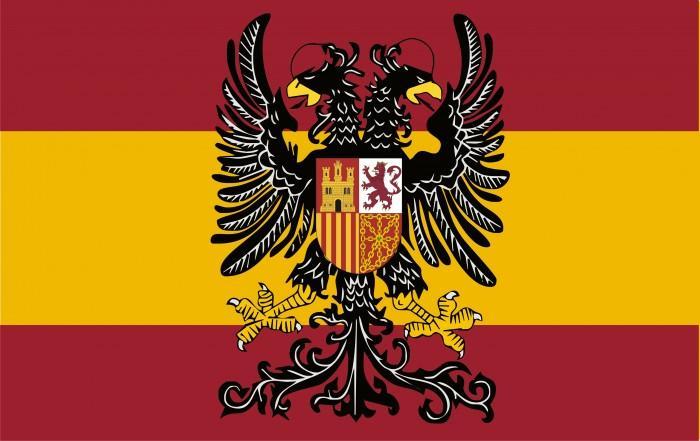 Bandera de España con el Águila Bicéfala