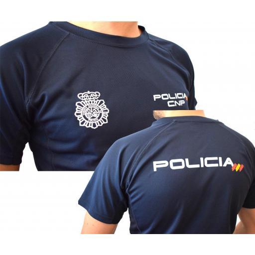 CAMISETA ALGODÓN CUERPO NACIONAL POLICÍA. [0]