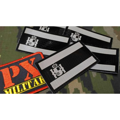 parche-bandera-españa-IR-infrarrojos-tactica-gris-negra-velcro