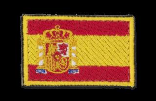 BANDERA ESPAÑA BORDADA CON VELCRO PARA HOMBRO ( COLOR )