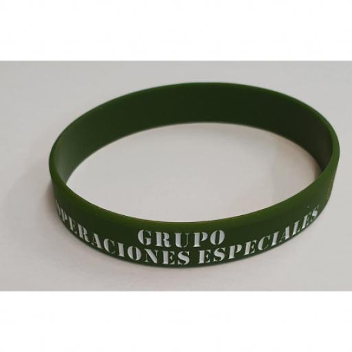 PULSERA GOMA OPERACIONES ESPECIALES