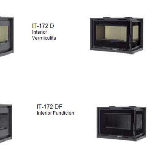 Insertable leña Marca FM Modelo IT-172 I IT-172 D [1]