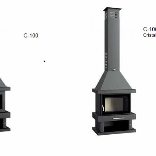 Chimenea leña Marca FM Modelo C-100 [1]