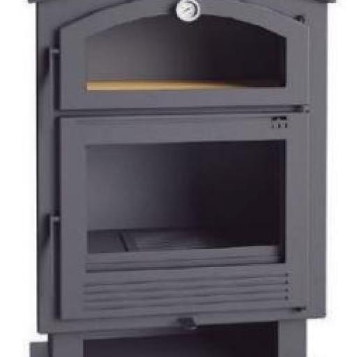 Estufa de leña frontal con horno modelo CH-4  [1]