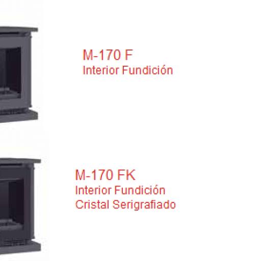 Insertable leña Marca FM Modelo M-170 [2]