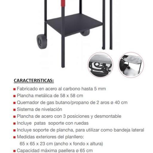 Planllero de gas Marca FM modelo PL60 ECO [1]